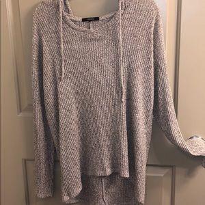 Knitted hooded sweatshirt